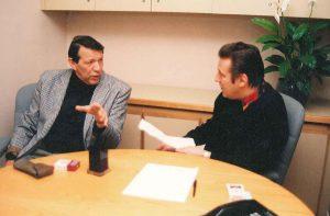 С Геннадием Хазановым за работой