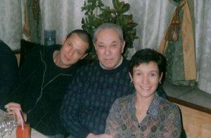 Дочь Екатерина и сын Алексей в гостях у Александра Иосифовича Хайта